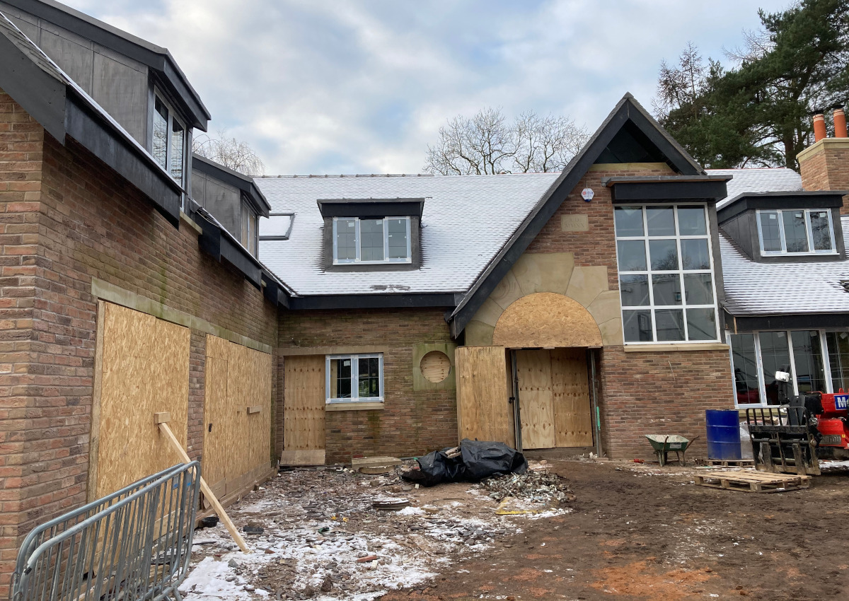 Prestbury new build moves on apace.